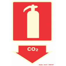 Placa-Extintor de CO2