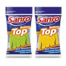 Luva Látex Sanro Top