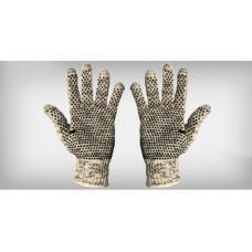 Luva tricotada 5 fios algodão mesclada pigmentada