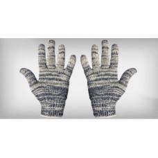 Luva tricotada 4 fios algodão mesclada
