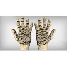 Luva tricotada 4 fios algodão pigmentada