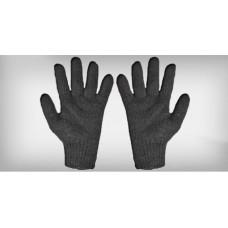 Luva tricotada 4 fios algodão preta