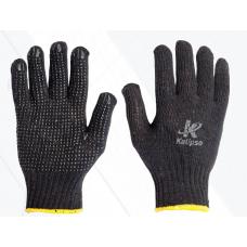 Luva tricotada preta com pigmento